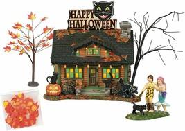 Department 56 Snow Village Halloween The Black Cat Flat Box Set #6000661... - $162.44