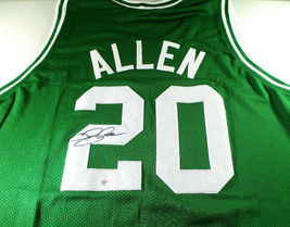RAY ALLEN / NBA HALL OF FAME / AUTOGRAPHED BOSTON CELTICS CUSTOM JERSEY / COA image 1