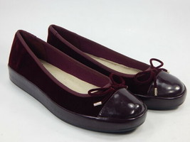 Isaac Mizrahi Live! Rakel2 Sz 6.5 M Women's Velvet Patent Leather Slip-On Flats - $46.52