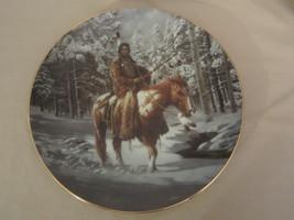MAN WHO WALKS ALONE collector plate MYSTIC WARRIORS Indian CHUCK REN Nat... - $14.95