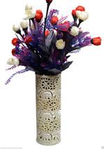 "10"" Marble Soapstone Flower Vase Elephant Pot Beautiful Carved Home Decor Art - $205.75"
