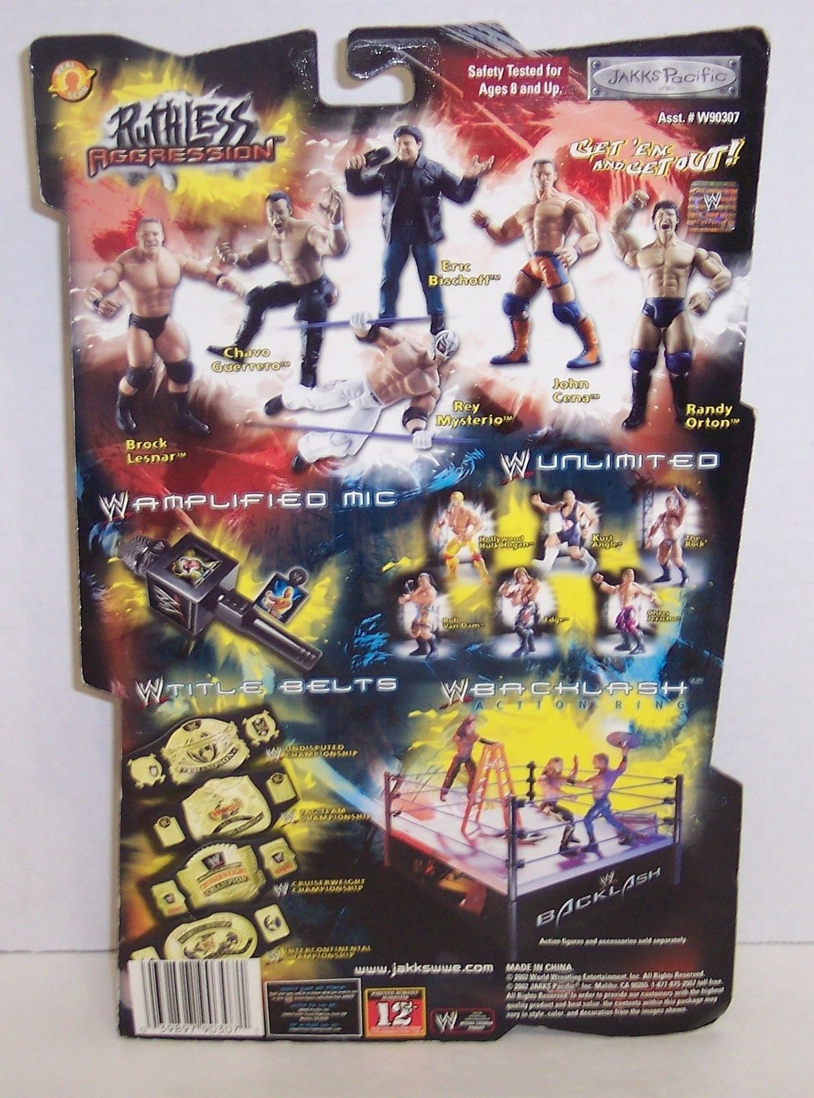 "New! 2002 Jakk's WWE Ruthless Agression ""Eric Bischoff"" Action Figure WWF [1303]"