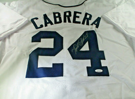 MIGUEL CABRERA / AUTOGRAPHED DETROIT TIGERS WHITE CUSTOM BASEBALL JERSEY / JSA