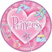 princess theme birthday lunch plates dinner princess baby girl shower - $1.67