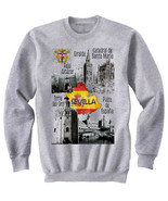 SEVILLA SPAIN - NEW COTTON GREY SWEATSHIRT - $31.88
