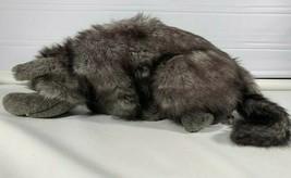 "Folkmanis Full Body Plush Wolf Puppet Gray Black Furry Realistic Folktails 23"" - $96.99"