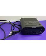 Sony Dream Machine Digital Alarm Clock Radio AM FM ICF-C218 Black TESTED... - $14.84