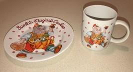 SAKURA SANTA'S MAGICAL COOKIES COFFEE MUG & PLATE CHERYL ANN JOHNSON CHR... - $14.84