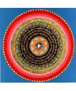 Hand-painted Mantra Symbol Mandala Tibetan Thangka Painting, Art on Canv... - $56.85