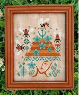 Bees In Her Bonnet cross stitch chart Carriage House Samplings - $9.00