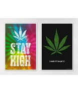 "Marijuana Posters - Set of Two 12"" x 18"" Posters FREE SHIPPING - $20.33"