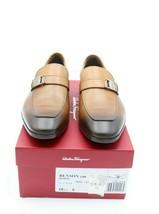 NIB Salvatore Ferragamo Benson Brown Burnished Leather Loafers 10.5 43.5 E $660 - $345.00