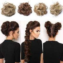100% Real LARGE Thick Messy Bun Hairpiece NaturalHair Extension Curly image 7