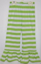 Blanks Boutique Green White Ruffled Pants Cotton Spandex Size 4T image 1