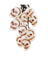 Top Race Halloween Skull String Lights, 10 Big 3 Inch Battery Powered Sk... - $28.39 CAD