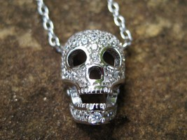 Haunted sparkling sterling skull Pendant 777,000 Djinn Genies at your command  - $111.00