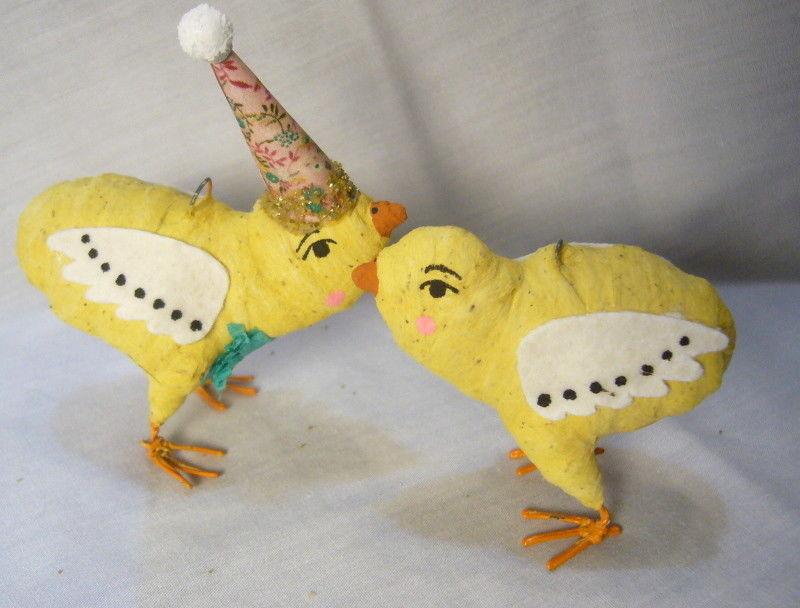 Vintage Inspired Spun Cotton Easter Chicks no. 173