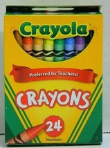 22 Boxes Crayola Crayons Classic 24 Ct Made In Usa 53-3024 - $15.09