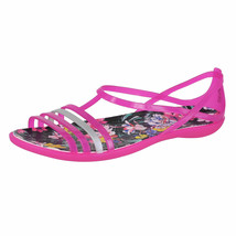Crocs Women Sandal Isabella Graphic 204858-6JS Candy Pink/Tropical Sz 11 - $19.97