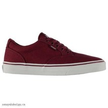 Vans Winston Men's Burgundy White Canvas Skate Shoes  - $34.99