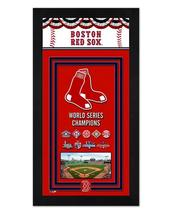 "Boston Red Sox 2018 World Series Championship Banner 6.75""x13"" Mini-Framed Photo - $38.95"