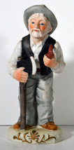 """Vintage 6"""" Hand Painted Porcelain Old Woodcutter Man Grandpa Funny Great... - $18.99"""