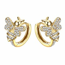 EVER FAITH Women's CZ Adorable Honeybee Daily Prom Insect Pierced Stud E... - $17.76