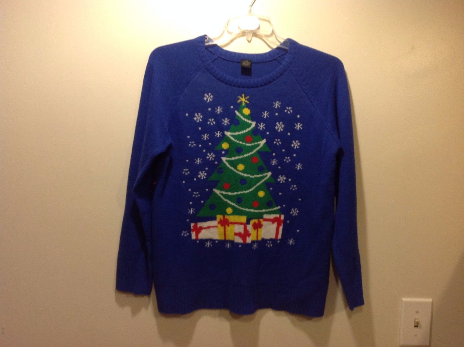LOL Vintage Royal Blue Christmas Holiday Sweater Sz XL