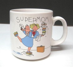 Super Mom Russ Berrie Coffee Mug Cup  3 1/2 Inches Great Shape - $29.69