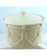 Longaberger Pottery Woven Drum casserole 30487 made in USA 2003 - $25.00