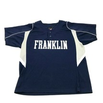 Alleson Athletic Franklin Baseball Jersey Youth Size Extra Large Blue He... - $17.83