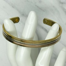 Vintage Silver Gold Tone 24K Gold Electroplated Cuff Bracelet Small S Me... - $12.59
