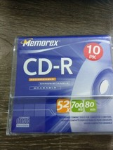 Memorex CD-R Recordable 10 Pack New, 52X 700MB 80 min - $14.84