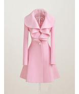 Pink / Black / Red wool women coat Women dress coat Autumn Winter Spring... - $164.99