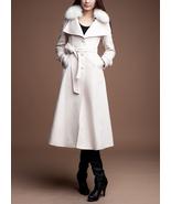 Beige women wool coat Women dress coat Autumn Winter Spring long coat--C... - $259.99
