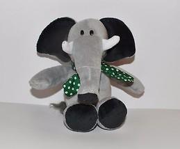 "Plush 12"" Kinder Surprise Grey Elephant w Green Scarf  Kinderegg Ferrero  - $11.29"