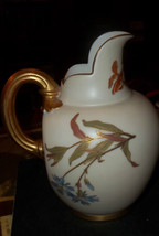 Royal Worcester Porcelain Flat Back Cream Gold Creamer Pitcher Vase C. 1890 - $200.00