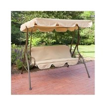 Outdoor Canopy Swing Hammock Furniture Bench Love Seat Porch Deck Shelte... - $182.42