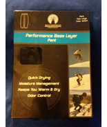 WEATHERPROOF Men's Peformance Base Layer Pants BLACK Size L 36-38 - $10.40