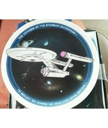 "Star Trek 1991 Plate Ceramic Stand 4"" Voyager Starship Enterprise Boldly... - $16.63"