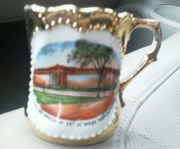 Cleveland Museum of Art Mug Cup Colorful Picture Gold Trim Wade Park Vin... - $24.47