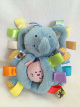 Taggies Earlyears Plush Blue Elephant Vibrating Pull Kitty Cat Bell Chim... - $6.99