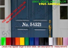 House Address Decal Family Name Street Number sticker DECALS MailBox MAIL - $12.67