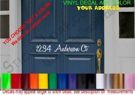 Street Number Decal sticker DECALS MailBox House Door Decorative Home Address - $15.82