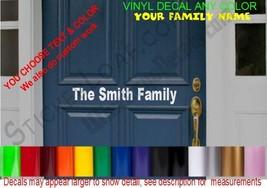 Front Door Street Number Decal sticker DECALS MailBox House Decal Address - $14.82