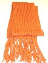 Ladies Women's Long Knit Scarf, Orange, O/S - $22.27
