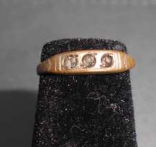 "VTG Antique Estate Fresh Gold Tone ""Checo"" Signed CZ Cubic Zirconia Ring... - $29.70"