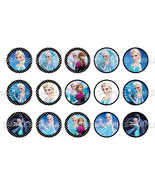 "Disney Frozen ELSA 1"" Bottle Cap Image Sheet (4... - $2.00"