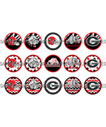 "Georgia Bulldogs 1"" Bottle Cap Image Sheet (4x6... - $2.00"
