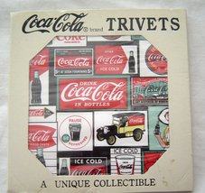 Vintage Coca-ColaCeramic Tile Trivet NOS 1995 Original Packaging - $14.99